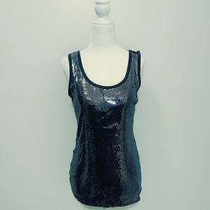 Maurices Grey Sequin Tank Top
